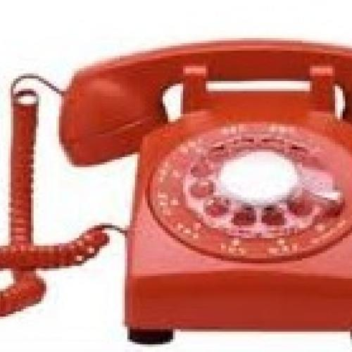 photo of a red telephone