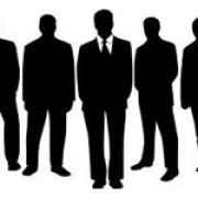 Silhouettes of men