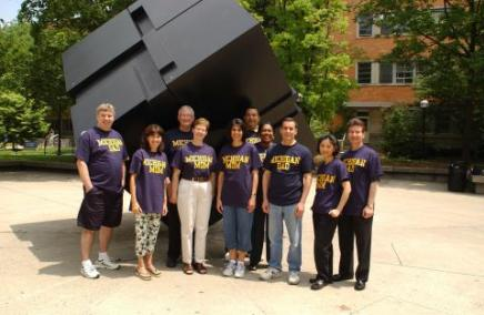 photo of U of M parents by the cube