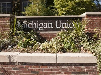 A photo of the Michigan Union sign