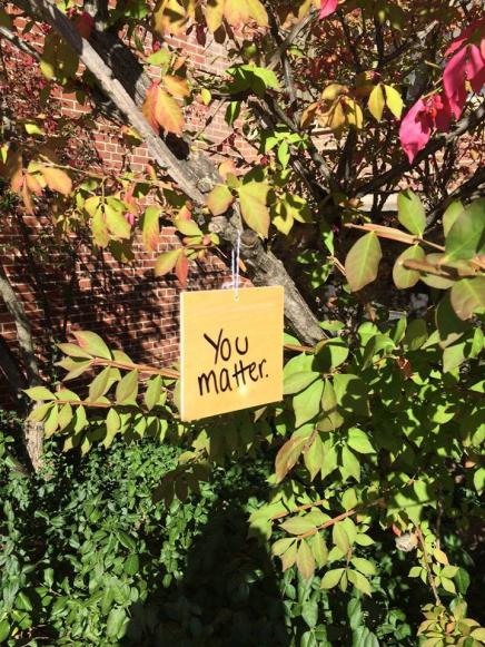 You Matter tile found on tree